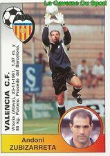 375 ZUBIZARRETA ESPANA VALENCIA.CF STICKER CROMO LIGA 1995 PANINI