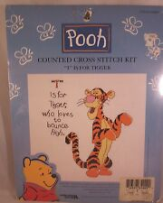 Disney Counted Cross Stitch Tigger T is for Tigger who Love to Bounce High Kit