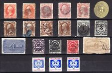 US collection: 20 old official stamps and seals M/U/F-VF