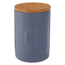 Fenwick 780ml Greyish Blue Coffee Canister Dolomite Storage Container Bamboo Lid
