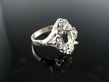 1877 Ring Setting Sterling Silver, Size 7.25, 7x5 Mm Oval Stone