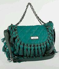 NEW nicole lee U.S.A. Fringe Messenger/Crossbody/Shoulder Bag Vegan Leather