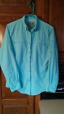 Bimini Bay Womens Long Sleeve Button Down Nylon Vented Fishing Shirt PS