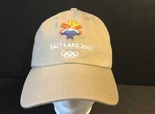 Salt Lake City Utah 2002 Olympic Winter Games 100% Cotton Khaki Hat Cap
