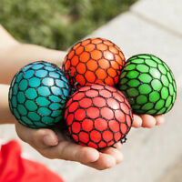 Squishy Mesh Ball Fidget Stress Toys Squishes Kids Fun Play Squeezy Gripper Ball