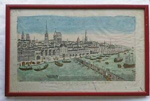 TABLEAU Vue de la VILLE De ROUEN Capital de la Province De NORMANDIE Deco Art 14