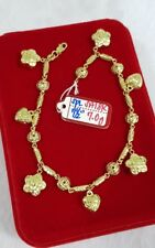 Gold Authentic 18k gold bracelet 7.5 inches