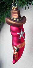 Chili Pepper Sheriff Deputy Police Christmas Ornament Holster Hat Badge  New
