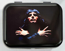 FREDDIE MERCURY ICONIC PHOTOGRAPH POP ROCK FREDDY HINGED TIN MINTS PILL