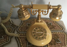 Telephone - Old Fashioned Elegant Style, Classical Vintage With Push Button Dial