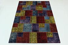 Modern Patchwork Stone Wash Used Look Perser Teppich Orientteppich 3,00 X 2,00