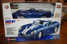 1/24 BURAGO CLASSIC - 1999 SHELBY SERIES 1 BLUE - DIECAST MODEL CAR