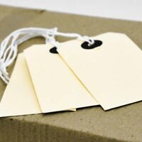 Quality Manila parcel strung/price tags tie on craft label, 7 sizes free postage