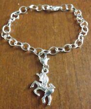 bracelet argenté 20 cm licorne 23x20 mm