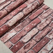 10M 3D Rustic Brick Wall Wallpaper Vintage Wall Paper Roll Living room Bedroom