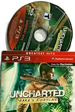 PS3 Playstation Game Uncharted Drake's Fortune Cardboard cover