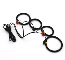 Electric 4 Shock Rings Penis Expander Ring + Cable E-Stim accessory