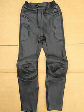 "FRANK THOMAS Mens Leather Motorbike / Motorcycle Trousers UK 28"" Waist (#7)"