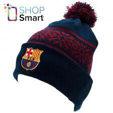 FC BARCELONA KNITTED SKI HAT CAP BOBBLE WARM WINTER SOCCER FOOTBALL CLUB TEAM