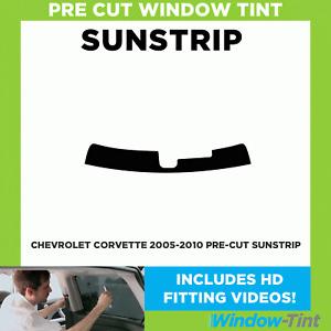 Pre Cut Sunstrip - Chevrolet Corvette 2005-2010 - Window Tint