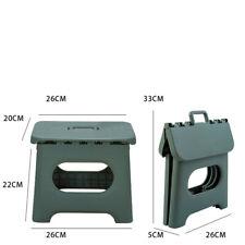 Folding Step Stool Plastic Premium Heavy Duty Stool Portable Handle Green Fgg01