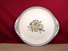 "Minton China Haddon Hall Pattern Trellis Blue Cake Plate 10 5/8"" (Second)"