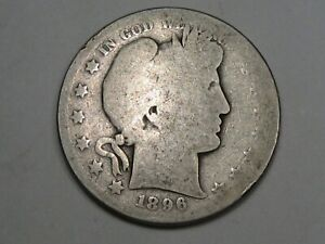 Better-Date 1896-s US Barber Half Dollar. #2