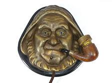 Zigarrenanzünder um 1920 Bronze Glasaugen Seemann