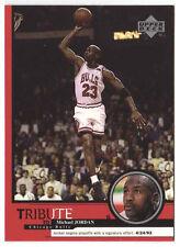 Michael Jordan 1999 Upper Deck Tribute Playoffs signature Basketball Card
