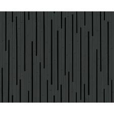 AS Creation Black Striped Pattern Wallpaper Modern Metallic Embossed Roll 302264