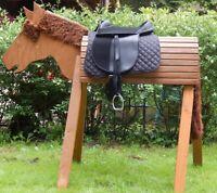Ponysattel Sattel f. Holzpferd Reitersattel  Zubehör Reitsattel Pony Starter Set