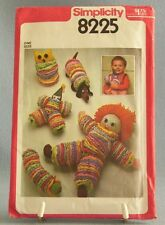 Simplicity Vintage Toys From Remnants Circles Doll Owl Dog Clown Caterpillar