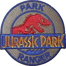 Jurassic Park Ranger Patch Embroidered Iron/Sew on Badge Dinosaur T-Rex Costume