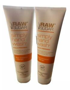 Raw Sugar (2 pack) Simply Hand Wash Raw Coconut + Mango Vegan 9 oz