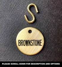 "BRIDLE TAG PLATE 1"" CUSTOM ENGRAVED SOLID BRASS or NICKEL SILVER HORSE PET"