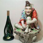 KIRSCHNER Marie loetz candlestick art glass vtg czech bohemian antique sculpture