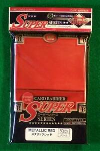 KMC Card Sleeves Super Metallic Red (80) New