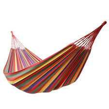 Cotton Canvas Multi-Colored Lounge Hammock 350lb Camping Picnic Rest Outdoor