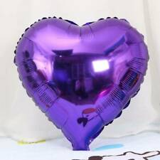 18 '' Heart Shape Foil Balloons Baby Shower Wedding Birthday Party Decor Purple