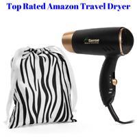 Travel Hair Dryer Dual Voltage Compact Folding Handle 1200 Watt REDUCED FREE BAG