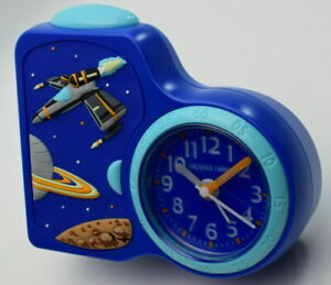 JACQUES FAREL Wecker Kinderwecker Weltraum LEISE - Lernwecker Serie ACB08SPA