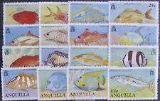 ANGUILLA #792-807: VF MNH Comp. Set of 16 - Fish