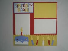 Birthday 1 #801 premade scrapbook pages