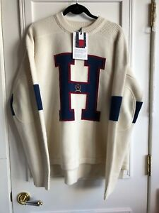 """KITH x TOMMY HILFIGER """"H"""" Sweater 100% Authentic 100% Wool Size Medium"""