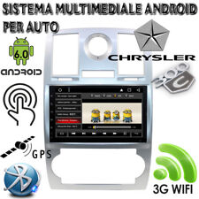 AUTORADIO ANDROID 6.0 PER CHRYSLER 300C 2000-2014 WIFI 3G BLUETOOTH GPS