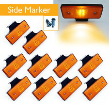 10x Waterproof Car Truck Amber Lamp Indicator 4 LED Side Marker Clearance Light