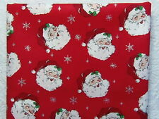 RARE OOP Holiday Inspirations RETRO SANTA CLAUS WINTER SPARKLE *100% Cotton FQ*