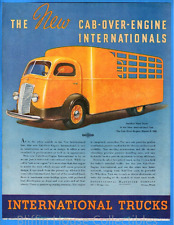 "Vintage 1937 ""New Cab-Over-Engine International"" Trucks Original Color Print Ad"