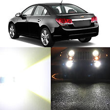 Alla Lighting Fog Light H11 6000K Super White LED Bulbs for Chevy Cruze Equinox