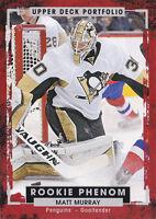 15-16 Upper Deck Portfolio Matt Murray Rookie Phenom Penguins 2015